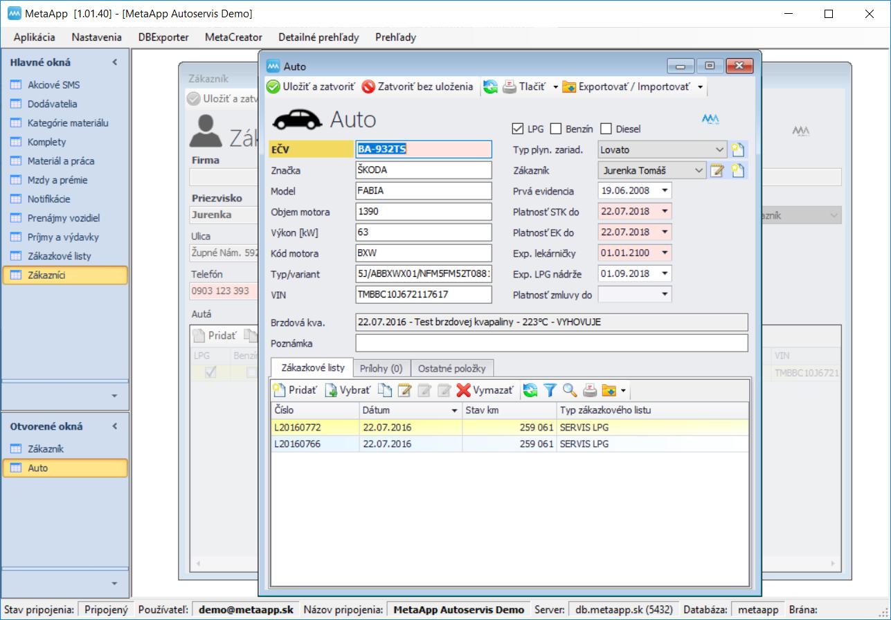 MetaCar - MetaApp Autoservis - Auto