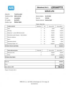 MetaCar - MetaApp Autoservis - Zakazkovy list - Tlac